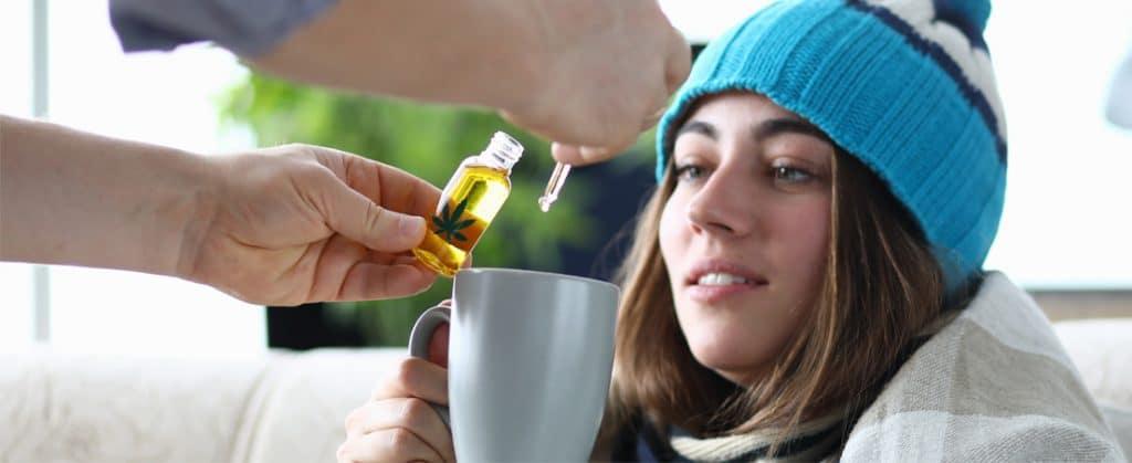 Cannabis oil in food CBD drops