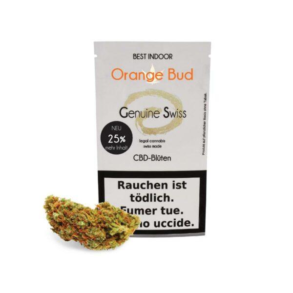 Genuine Swiss Orange Bud, Fleurs CBD