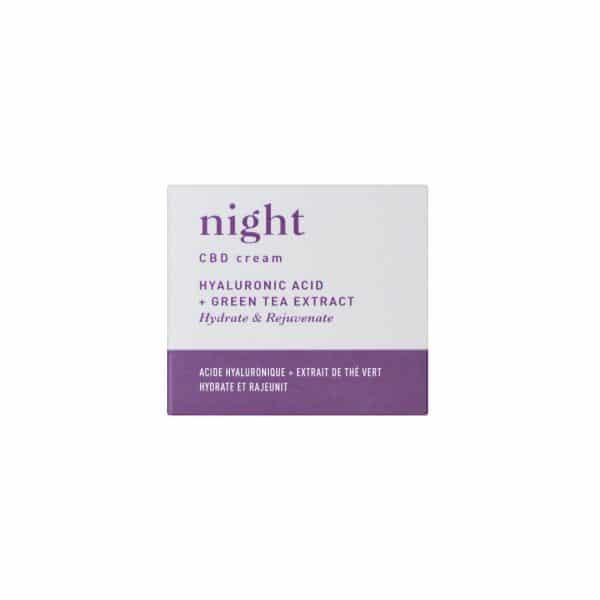 Blossom NIGHT - Crème CBD avec Acide Hyaluronique & Extrait de Thé Vert