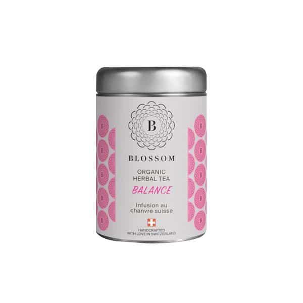 Blossom Bio-Kräuter-Tee mit Schweizer Hanf - Balance, Hanftee