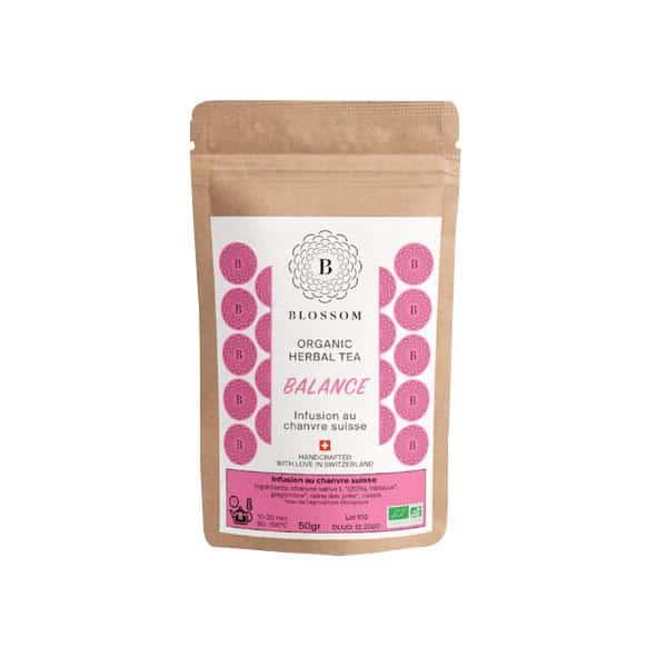 Blossom Bio-Kräuter-Tee mit Schweizer Hanf - Balance 1, Hanftee