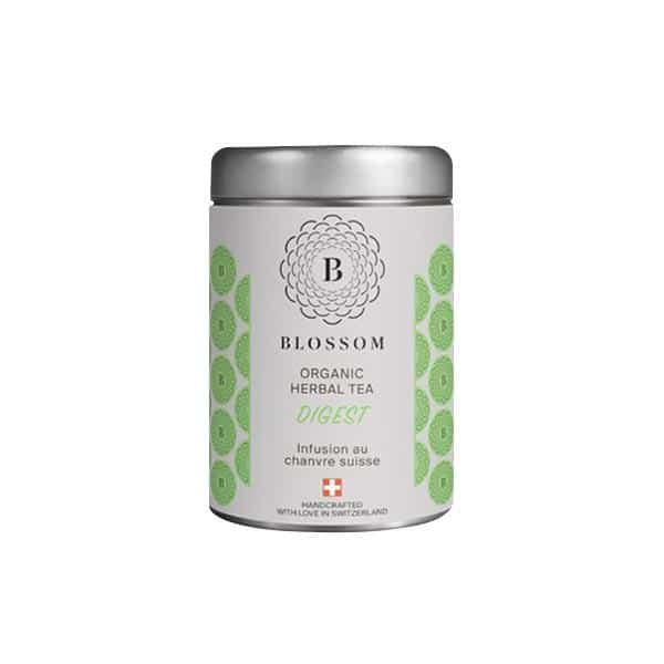 Blossom Bio-Kräuter-Tee mit Schweizer Hanf - Digest, Hanftee