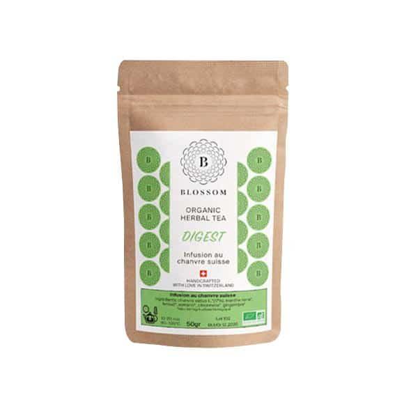 Blossom Bio-Kräuter-Tee mit Schweizer Hanf - Digest 1, Hanftee