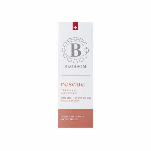 Blossom RESCUE - Crème CBD Visage & Corps avec Ginseng & Huile d'Avocat