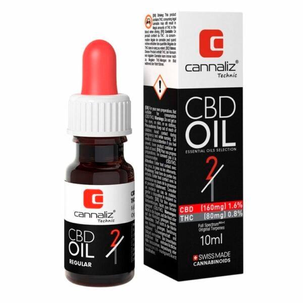 Cannaliz Technic Huile CBD - Ratio 2:1 (CBD/THC)