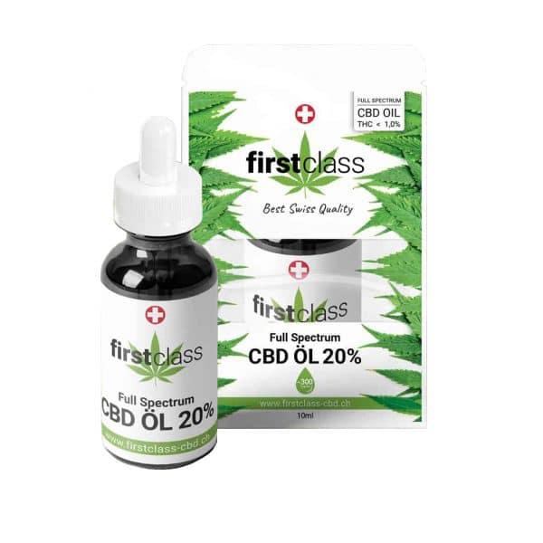 First Class CBD Full-Spectrum Swiss CBD Oil 20%