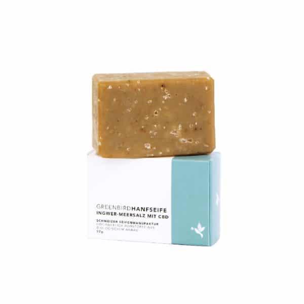 Greenbird Organic Hemp Soap with Ginger & Sea Salt, Body Care