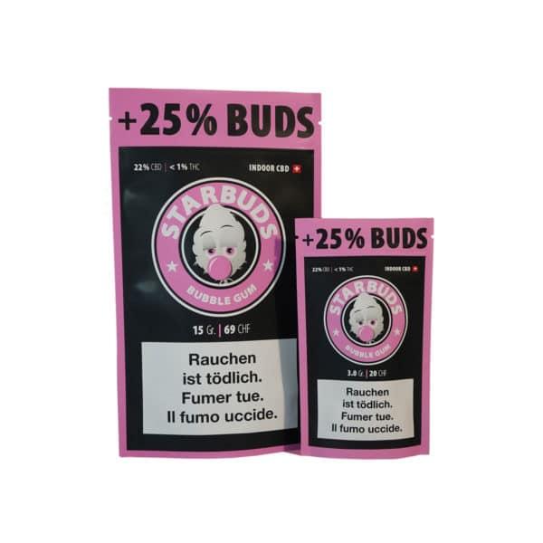Starbuds Bubble Gum, Fleurs CBD
