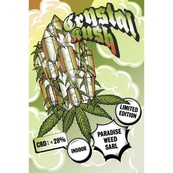 Paradise Weeds Crystal Kush Indoor, Fleurs CBD