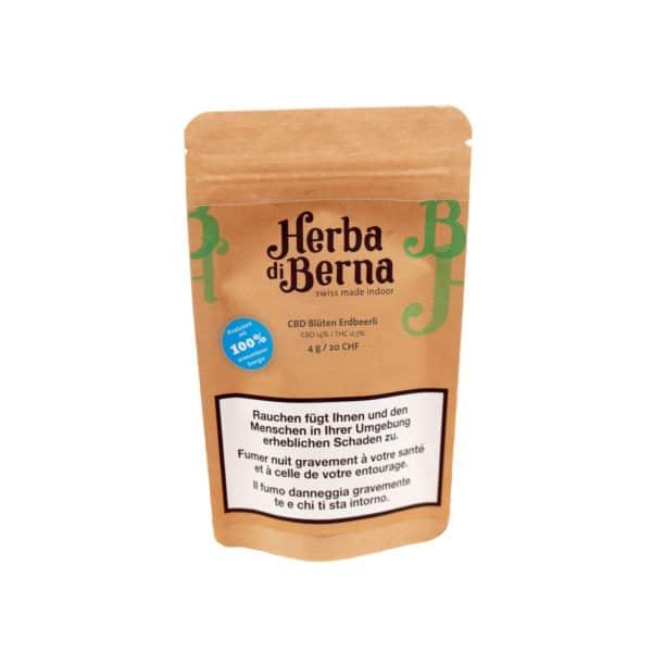 Herba di Berna Strawberry Indoor, CBD Blüten