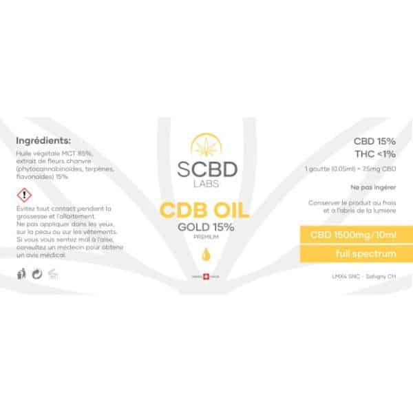 SCBD Labs CBD Öl 15% - Premium, CBD Öl