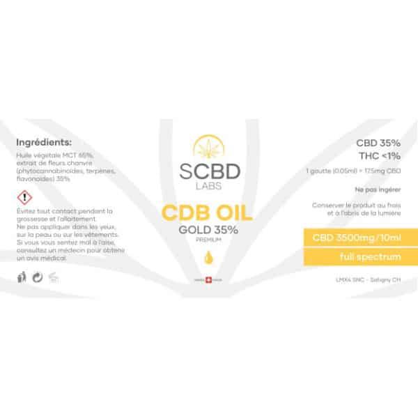 SCBD Labs CBD Oil 35% - Premium, CBD Oil