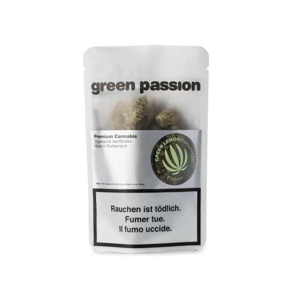 Green Passion Green Lemon Popcorn, CBD Flowers
