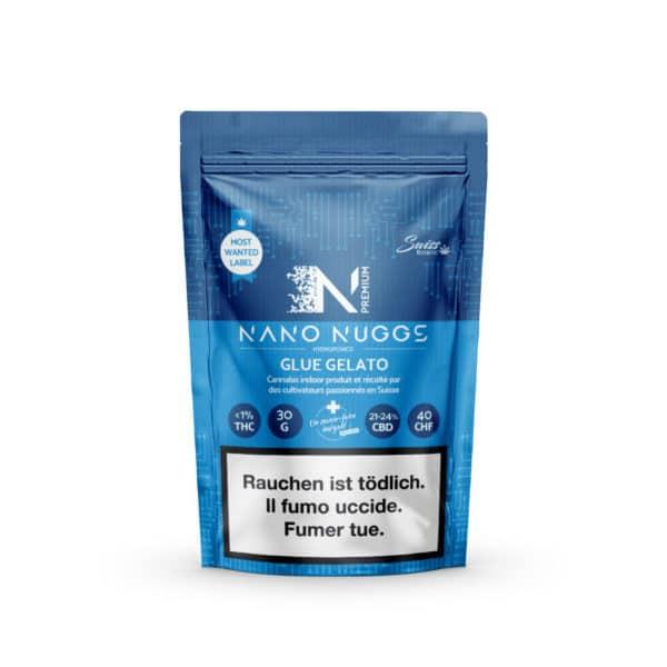 Swiss Botanic Nano Nuggs Glue Gelato 1, Small Buds